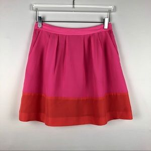 J, Crew Factory Color Block Mini Skirt